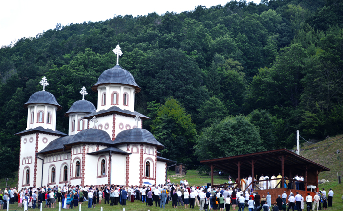Mitropolitul Andrei, la hramul Mănăstirii de la Băișoara