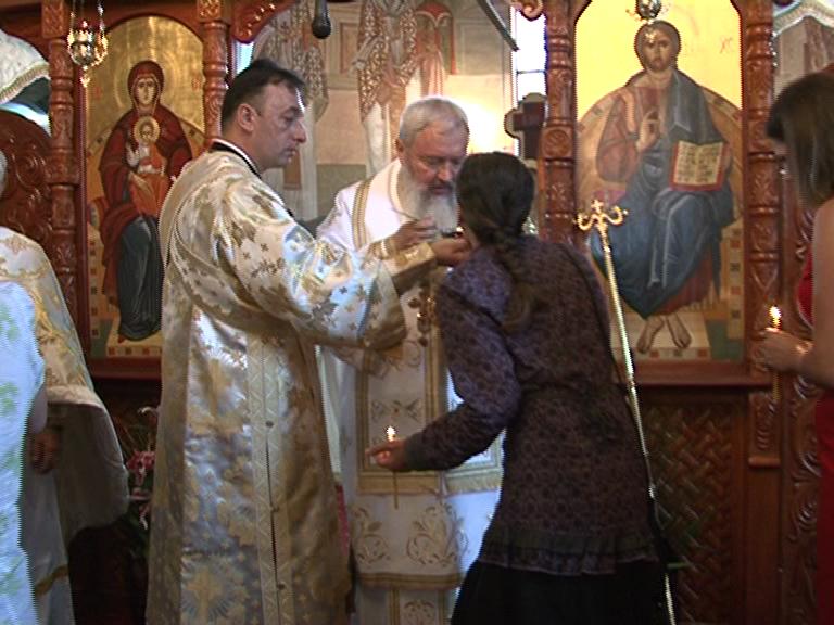 """Liturghie arhierească de sărbătoarea Sf. Ap Bartolomeu la Parohia """"Înălțarea Sfintei Cruci"""" din Cluj-Napoca"""