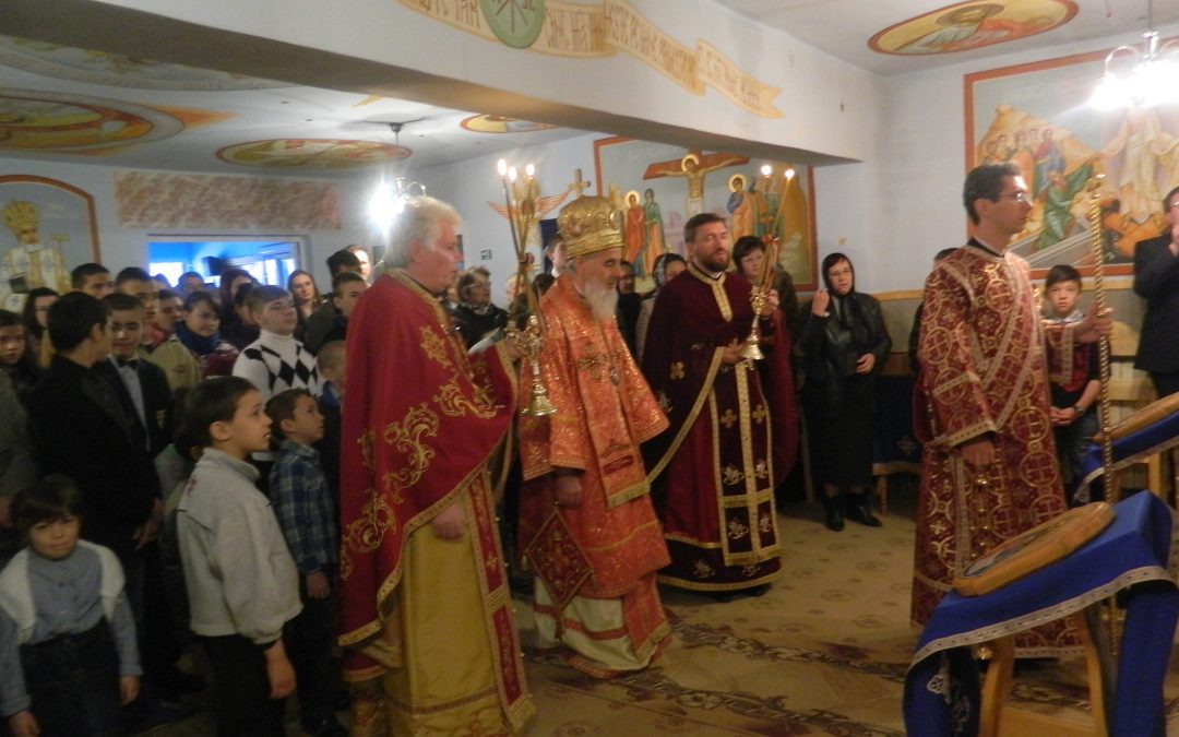 Liturghie arhierească la Centrul de plasament din Beclean
