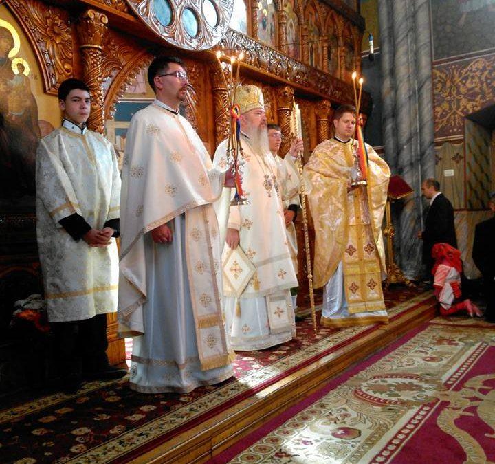 În a doua zi de Paști, Mitropolitul Clujului, prezent la Bistrița