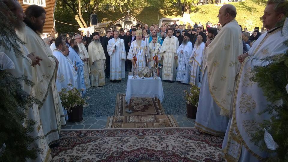 Târnosirea noii biserici a Mănăstirii Ilva Mare