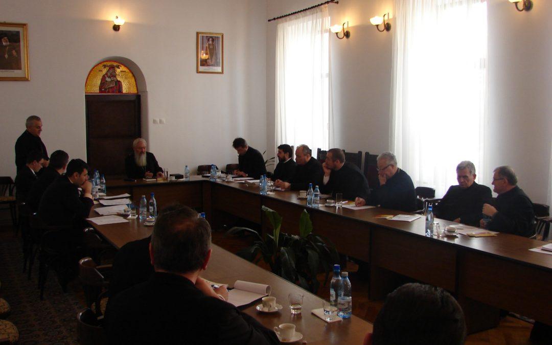 Ședința semestrială cu părinții protopopi, la Centrul Eparhial