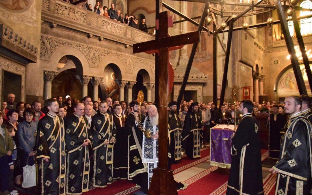 Slujba Deniei celor 12 Evanghelii, la Catedrala Mitropolitană din Cluj-Napoca