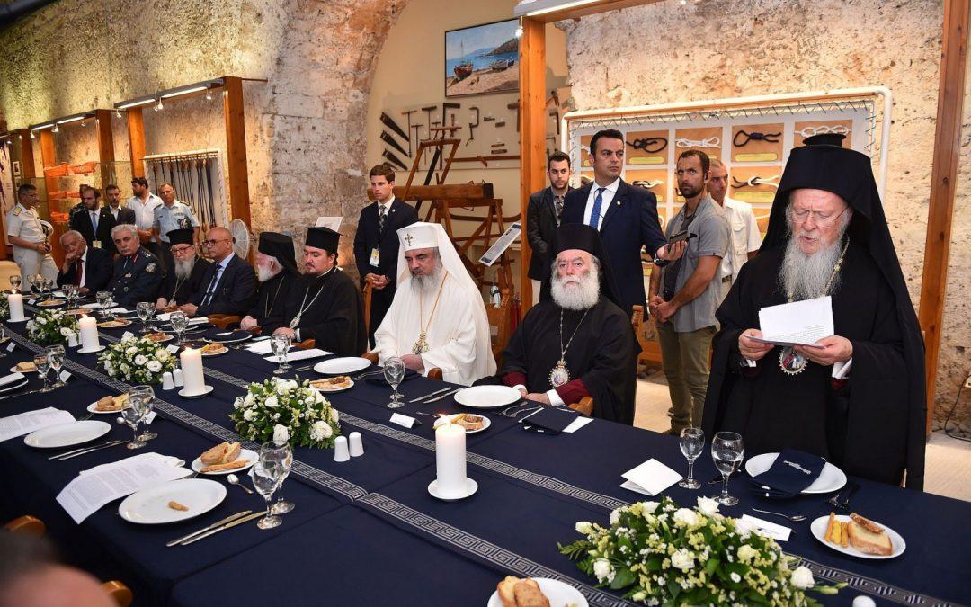 Cină oficială în cinstea Întâistătătorilor, la Muzeul Maritim din Chania, Creta