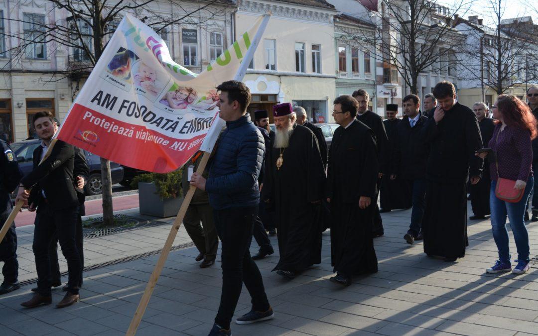 A VII-a ediție a Marșului pentru viață la Cluj
