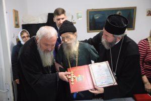 Arhim. Mina Dobzeu a primit vizita a doi arhierei și o nouă distincție