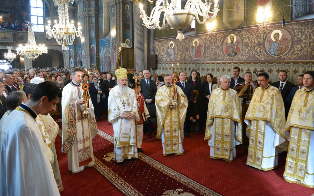Biserica de la Coroana din Bistrița, în a doua zi de Paști