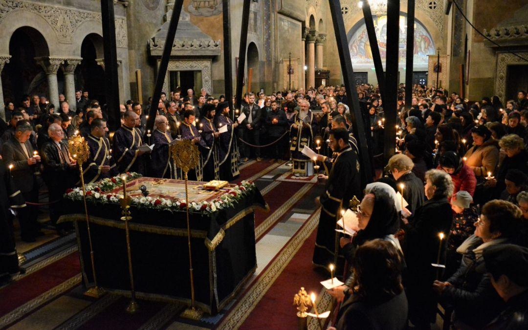 Slujba Deniei Prohodului Domnului, în Catedrala Mitropolitană din Cluj-Napoca