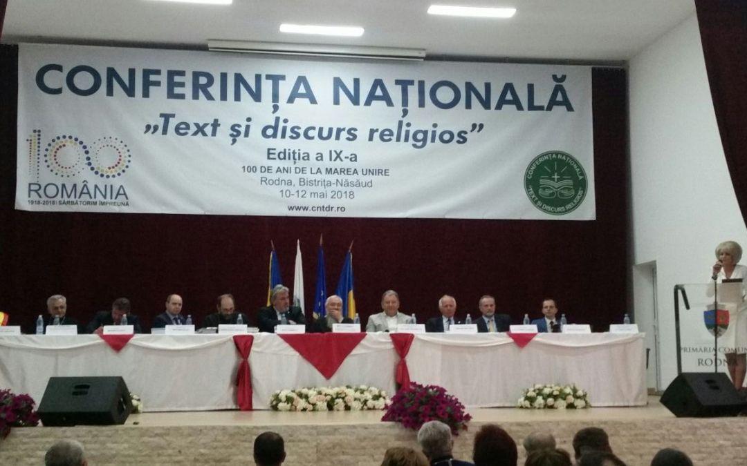 """Cea de-a IX-a ediţie a Conferinţei Naţionale """"Text şi discurs religios"""""""