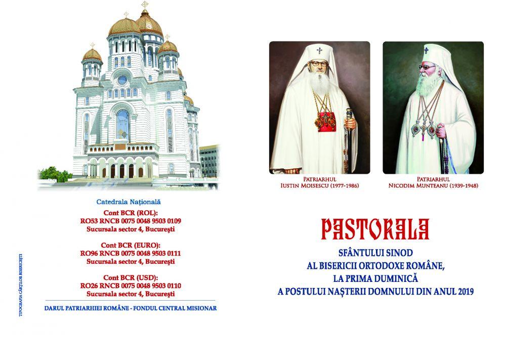 Pastorala Sfântului Sinod, la prima duminică a Postului Naşterii Domnului din anul 2019