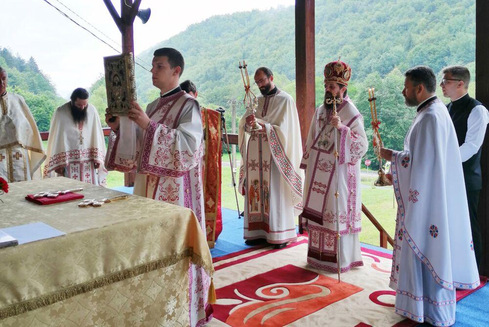 """Hramul Mănăstirii """"Sfântul Proroc Ilie Tesviteanul"""" din Băișoara"""