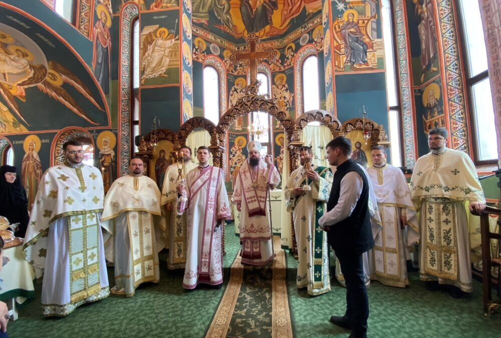 Întâmpinarea Domnului, prăznuită la Mănăstirea Piatra Fântânele, în prezența Episcopului-vicar Benedict Bistrițeanul