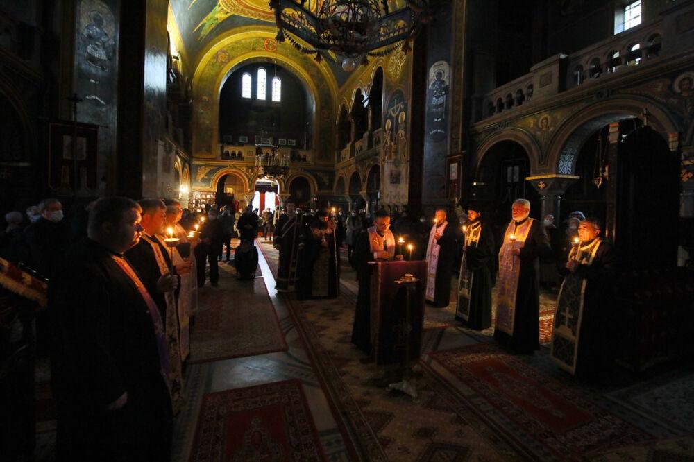 Ultima parte a Canonului cel Mare, la Catedrala Ortodoxă din Turda